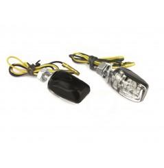 Clignotant Moto LED Adaptables Homologués MICRO Carbone
