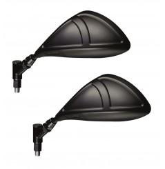 Paire de Rétroviseurs Homologué Moto LIGHT Noir