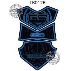 Protection de Réservoir Moto Noir - Bleu pour BMW F650GS (08-13)
