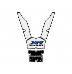 Protection de Réservoir Moto Blanc - Noir - Bleu pour BMW S1000XR (15-16)