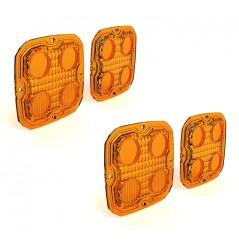 Lentilles TriOptic™ Orange pour Feux Additionnel Moto - Quad DENALI D4 Led