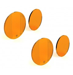 Lentilles TriOptic™ Orange pour Feux Additionnel Moto - Quad DENALI DR1 Led