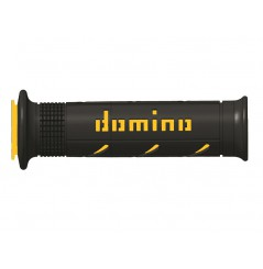 Poignée Moto Domino XM2 Super Soft Noir Jaune