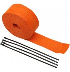 Bande Thermique D'échappement en Fibre de Verre CYCLE (51mm x 7.6m) Orange
