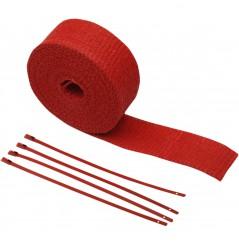 Bande Thermique D'échappement en Fibre de Verre CYCLE (51mm x 7.6m) Rouge