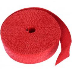 Bande Thermique D'échappement en Fibre de Verre CYCLE (51mm x 15m) Rouge