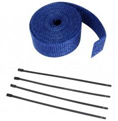 Bande Thermique D'échappement en Fibre de Verre CYCLE (51mm x 7.6m) Bleu