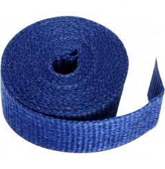 Bande Thermique D'échappement en Fibre de Verre CYCLE (51mm x 15m) Bleu