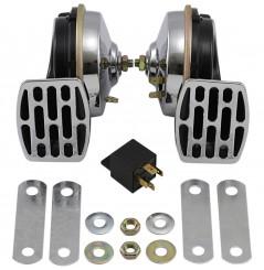 Double Klaxon - Avertisseur Sonore 12v - 107dB DRAG SPECIALTIES pour Moto - Quad - Sccoter