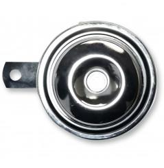 Klaxon - Avertisseur Sonore Chrome 12v - Ø92mm - 110dB K&S pour Moto - Quad - Sccoter
