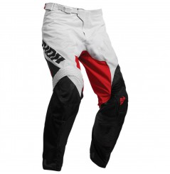 Pantalon Cross THOR PULSE AIR FACTOR 2020 Blanc - Noir - Rouge