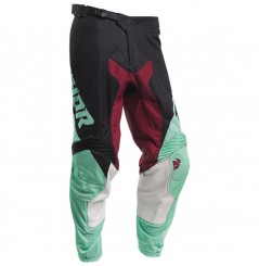 Pantalon Cross THOR PULSE AIR FACTOR 2020 Noir - Vert - Violet