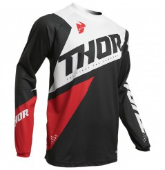 Maillot Cross THOR SECTOR BLADE 2020 Noir - Blanc - Rouge