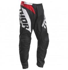 Pantalon Cross THOR SECTOR BLADE 2020 Noir - Blanc - Rouge