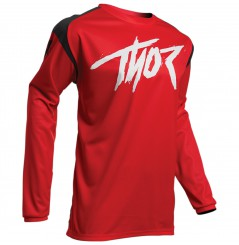 Maillot Cross THOR SECTOR LINK 2021 Rouge - Noir
