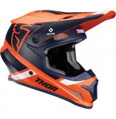 Casque Moto Cross THOR SECTOR SPLIT MIPS 2020 Orange - Bleu