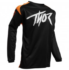 Maillot Cross Enfant THOR SECTOR LINK 2021 Noir - Orange
