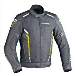 Blouson Moto Ixon COOLER Noir - Blanc - Jaune