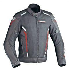 Blouson Moto Ixon COOLER Noir - Blanc - Rouge