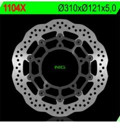 Disque de frein NG Brake avant wave pour GSR600 (06-12 V-Strom 650 (06-15) Bandit 650 (07-16) GSXF650 (07-11) GSR750 (11-16)