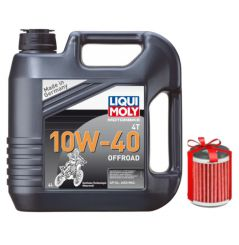 Huile Moto Cross LIQUI MOLY 10W40 Off Road Semi-Synthèse 4 LitreHuile Moto Cross LIQUI MOLY 10W50 Off Road 100% Synthèse 4 Litre