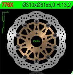 Disque de Frein Avant NG Brake Wave pour ZX9R (00-01) Zephyr 1100 (92-00) ZRX 1100-1200 (90-06) ZZR1100 (90-92)