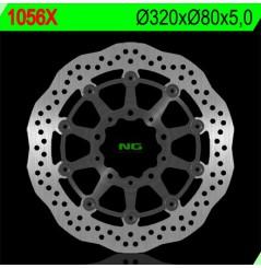Disque de Frein Avant NG Brake Wave à pétale Avant pour ZX6R (05-16) ER-6 (05-16) Versys 650 (06-14) Z750 (07-13)
