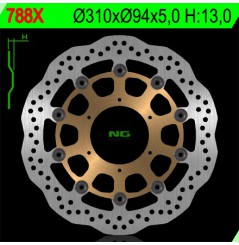 Disque de frein avant Honda CBR600RR (03-16) CB1000R (08-16) CBR1000RR (04-05) CB 1300 (01-11)