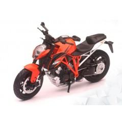 Maquette Moto 1/12 ème KTM 1290 SUPERDUKE Orange - Blanc