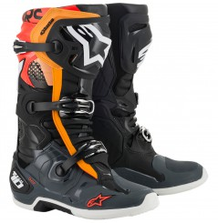Bottes Moto Cross ALPINESTARS TECH 10 Noir - Gris - Orange - Rouge