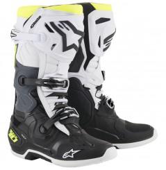 Bottes Moto Cross ALPINESTARS TECH 10 Noir - Blanc - Jaune