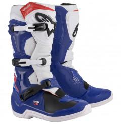Bottes Moto Cross ALPINESTARS TECH 3 Bleu - Blanc - Rouge
