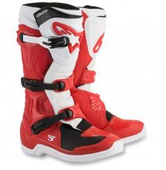 Bottes Moto Cross ALPINESTARS TECH 3 Rouge - Blanc