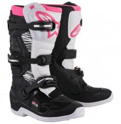 Bottes Moto Cross Femme ALPINESTARS STELLA TECH 3 Noir - Blanc - Rose