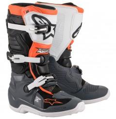 Bottes Moto Cross Enfant ALPINESTARS TECH 7 S Noir - Orange - Blanc