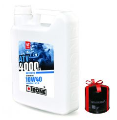 Huile Ipone ATV 4000 RS 10w40 4 Litres + Filtre à Huile Offert