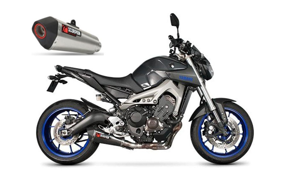 silencieux scorpion serket carbone yamaha mt09 13 16 street moto piece. Black Bedroom Furniture Sets. Home Design Ideas