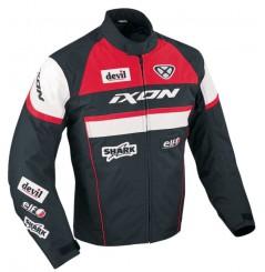 Blouson Moto Ixon CRONOS Noir - Blanc - Rouge