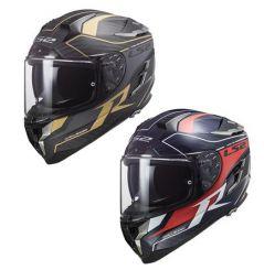 Casque moto LS2 FF327 Challenger Grid Carbon Rouge / Or