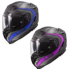 Casque moto LS2 FF327 Challenger HPFC FUSION mat - Titane Bleu / Titane Rose