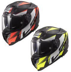 Casque moto LS2 FF327 Challenger HPFC SQUADRON Mat Orange / Jaune