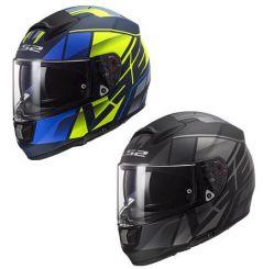 Casque moto LS2 Vector Evo Kripton Noir mat / Jaune Bleu