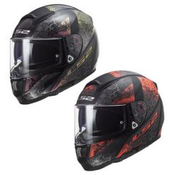 Casque moto LS2 Vector Evo Swipe Multicolore / Rouge