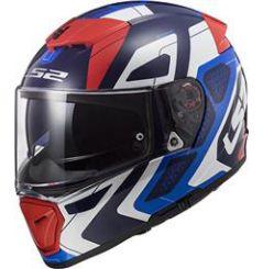 Casque moto LS2 Breaker Android Bleu Blanc Rouge