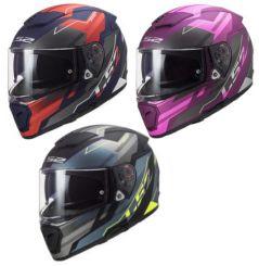 Casque moto LS2 Breaker Beta Mat Rouge / Cobalt / Violet
