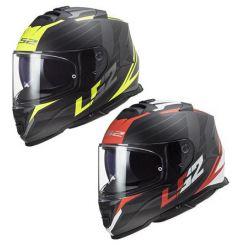 Casque moto LS2 Storm Nerve Rouge / Jaune