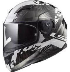 Casque Moto LS2 STREAM EVO HYPE Blanc - Noir - Titanium