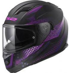 Casque moto LS2 FF320 Stream Evo Lux Violet et Noir