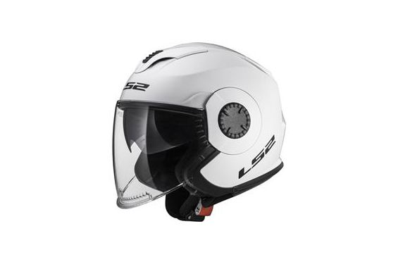 Casque Jet LS2 OF570 Verso Solid Blanc