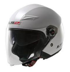 Casque Jet Moto LS2 OF569 TRACK SOLID Blanc